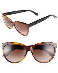 Max Mara - Moderii 57mm Gradient Cat Eye Sunglasses - Dark Havana/ Black - Lyst