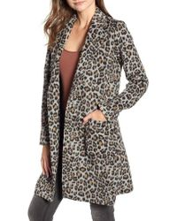 Cupcakes And Cashmere - Leopard Belted Trench Coat - Lyst