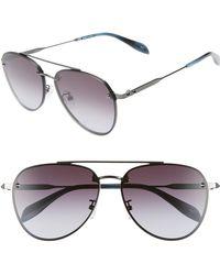 14af9737941a Lyst - Alexander McQueen Skulltemple Aviator Sunglasses Havana in ...