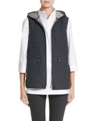 Lafayette 148 New York | Ginny Reversible Hooded Vest | Lyst
