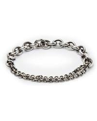 Title Of Work - Sterling Silver Chain Wrap Bracelet - Lyst