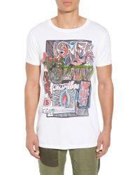 Scotch & Soda - Indigo Lamplight T-shirt - Lyst
