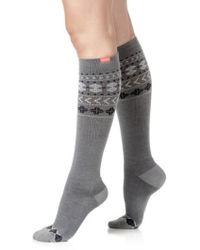VIM & VIGR - Fair Isle Compression Knee Socks - Lyst