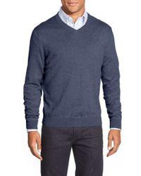 Nordstrom - Cotton & Cashmere V-neck Sweater - Lyst