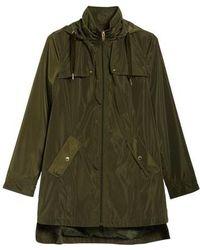 Via Spiga - Velvet Pull Packable Raincoat - Lyst
