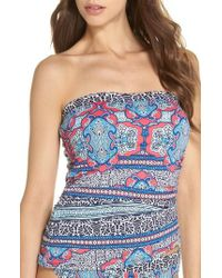 Tommy Bahama - Riviera Tiles Strapless Tankini Top - Lyst