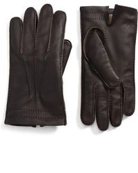 Hickey Freeman - Deerskin Leather Gloves - Lyst
