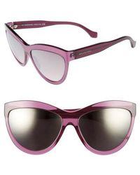 Balenciaga | 60mm Sunglasses - Transparent Purple/ Silver | Lyst