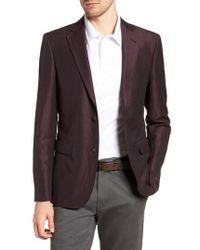 20f06681658b Lyst - Strong Suit Noble Trim Fit Velvet Blazer in Purple for Men