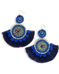 Mad Jewels - Bohemian Beaded Statement Earrings - Lyst