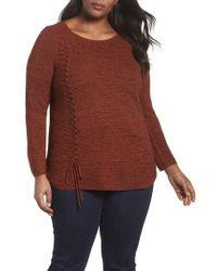 NIC+ZOE - Braided Up Sweater - Lyst