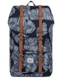 Lyst - Herschel Supply Co. Little America Palm Print Backpack in Blue cac50889d3