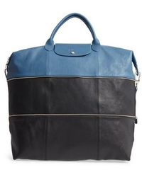 Longchamp - Ruban D'or Expandable Leather Travel Bag - Lyst