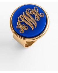 Moon & Lola - 'vineyard' Personalized Monogram Ring - Lyst