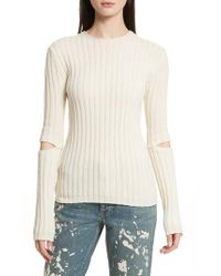 Helmut Lang - Re-edition Elbow Cutout Lambswool Sweater - Lyst