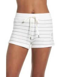 Pj Salvage - Skull Stripe Lounge Shorts - Lyst