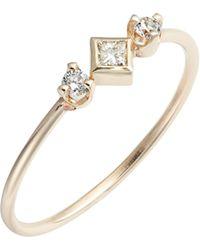 Zoe Chicco - Diamond Bezel Ring - Lyst