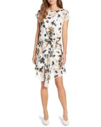 Kenneth Cole - Gathered Front A-line Dress - Lyst