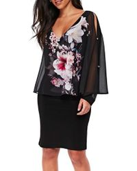 Wallis   Floral Overlay Dress   Lyst