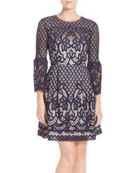 Eliza J - Bell Sleeve Fit & Flare Dress - Lyst