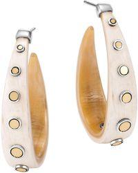 John Hardy - Dot Horn Hoop Earrings - Lyst