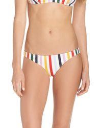J.Crew - Holiday Stripe Lowrider Bikini Bottoms - Lyst