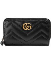 3686ba71a34 Lyst - Gucci Gg Marmont 2.0 Animal Stud Matelasse Leather Pouch in Black