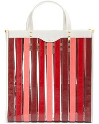Anya Hindmarch - Multi Stripe Tote - Burgundy - Lyst