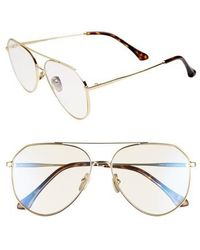 DIFF - Dash 58mm Aviator Sunglasses - Lyst