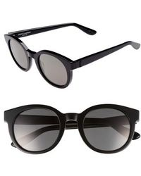 Saint Laurent - 51mm Round Sunglasses - - Lyst