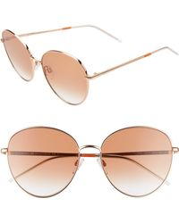 8e6ae981c9 Tommy Hilfiger - 58mm Round Sunglasses - Lyst