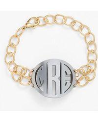 Moon & Lola | 'annabel' Medium Personalized Monogram Bracelet | Lyst