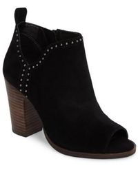 Lucky Brand - Lotisha Studded Open Toe Bootie - Lyst