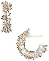 Meadowlark - Small Bluebell Hoop Earrings - Lyst
