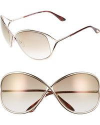 057b29659d Tom Ford - Miranda 68mm Open Temple OverShiny Rose Gold  Brown - Lyst
