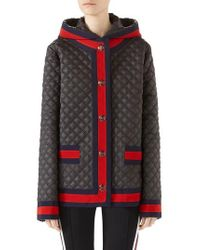 Gucci - Quilted Caban With Removable Hood - Lyst