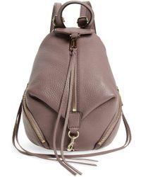 Rebecca Minkoff - Mini Julian Pebbled Leather Convertible Backpack - Lyst