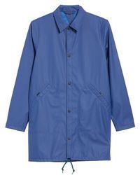 PS by Paul Smith - Rubberized Long Coach's Jacket - Lyst