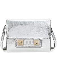 Proenza Schouler - Ps11 Leather Crossbody Wallet - Metallic - Lyst