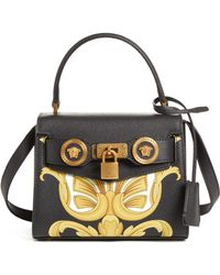 9a031d18135 Versace - Mini Icon Top Handle Leather Crossbody Bag - Lyst