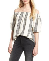 BISHOP AND YOUNG - Bishop + Young Karlie Off The Shoulder Top - Lyst