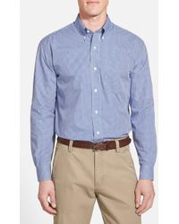 Cutter & Buck - Epic Easy Care Classic Fit Wrinkle Free Gingham Sport Shirt - Lyst