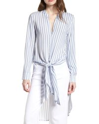 BISHOP AND YOUNG Bishop + Young Stripe Front Tie Tunic