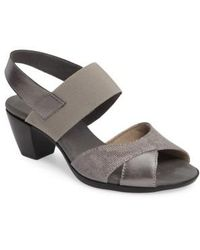 Munro - Darling Mixed Finish Slingback Sandal - Lyst