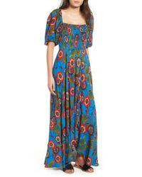 Band Of Gypsies - Heirloom Blossom Maxi Dress - Lyst