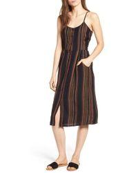 RVCA - Medway Stripe Midi Dress - Lyst