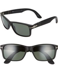 Persol - 58mm Polarized Rectangle Sunglasses - - Lyst