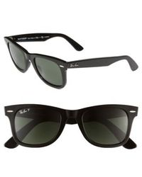 Ray-Ban - Standard Classic Wayfarer 50mm Polarized Sunglasses - Lyst