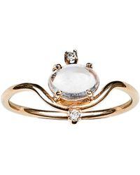 Wwake - Nestled Moonstone & Diamond Ring - Lyst
