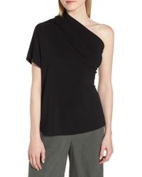 LEWIT - One-shoulder Stretch Jersey Top - Lyst
